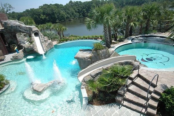 aqua blue pools charleston sc - Outdoor Backyard Pools